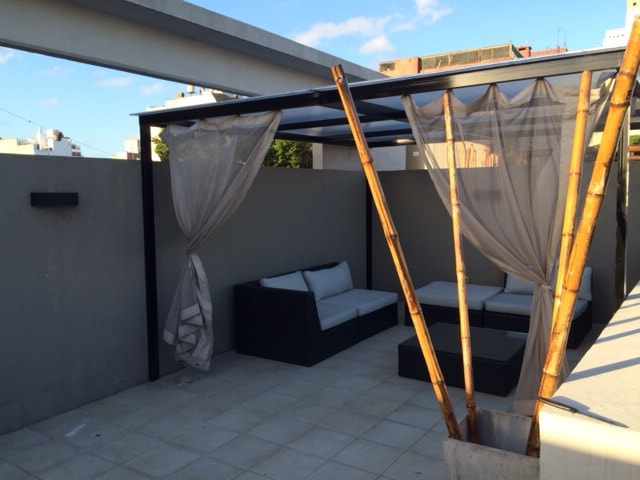 Private, beatifull and nice terrace, excellent to have a breakfast, enjoy the sun or have a dinner at night.