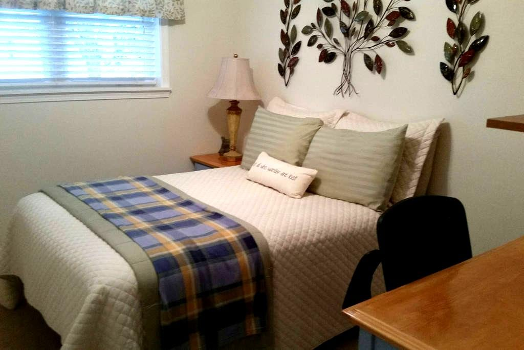 Full bed for 2 with shared bath. - Louisville