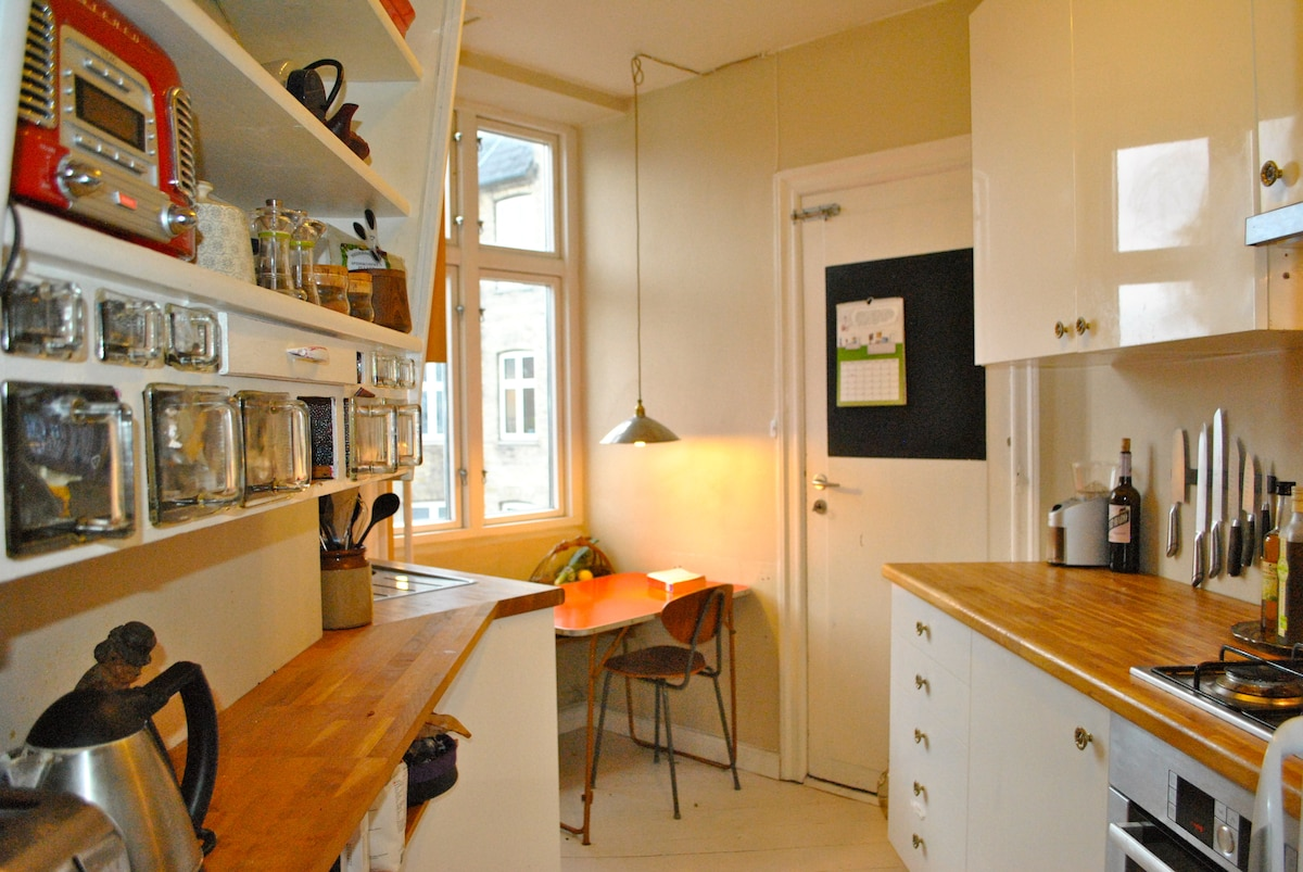 The small but comfortable kitchen that includes all the essentials.