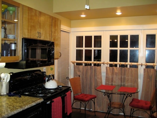 Eat in-kitchen nook.