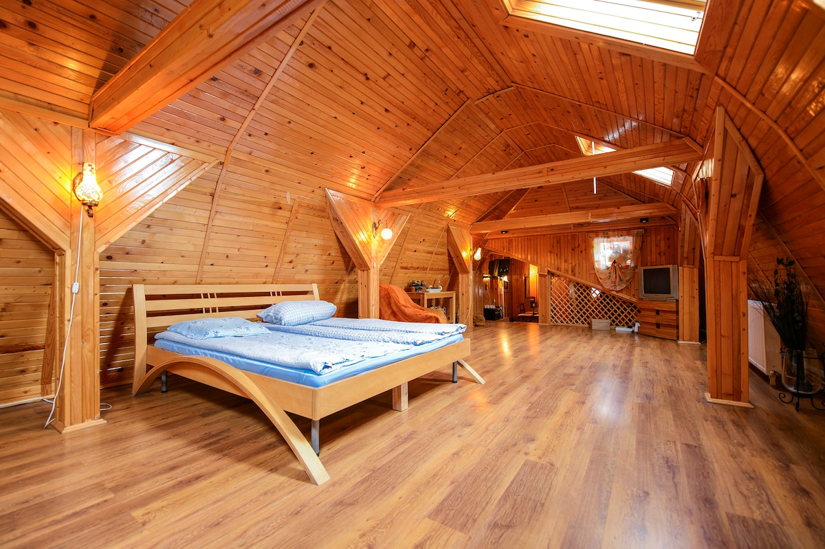 Wooden Attic Suite