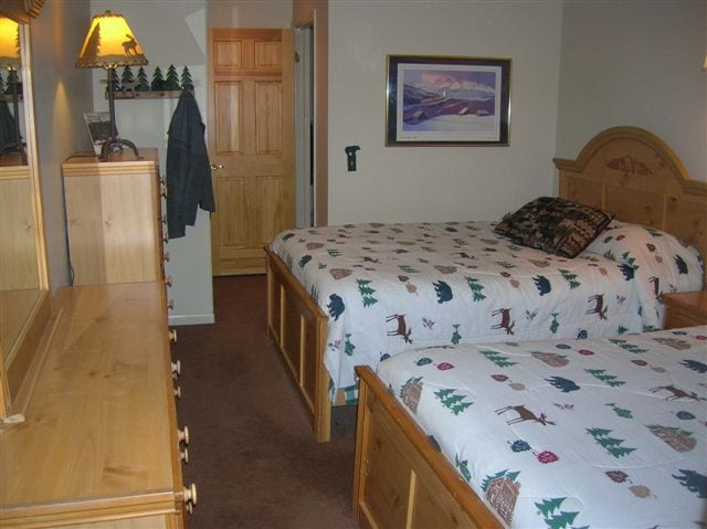 2 bedrooms each with 2 queen size beds!  Mountain decor