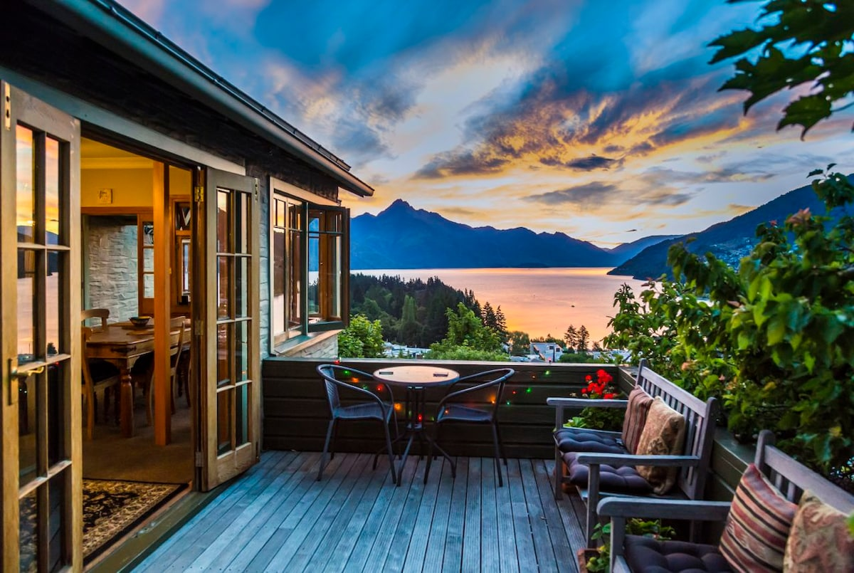 amazing sunsets from deck also can be seen inside from the master bedroom, the media room and the living  areas.