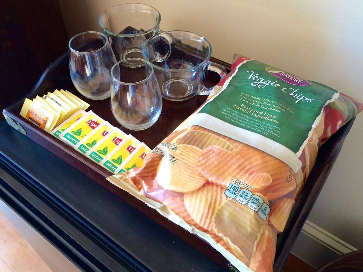 We offer our guests a drink or snack of taste.