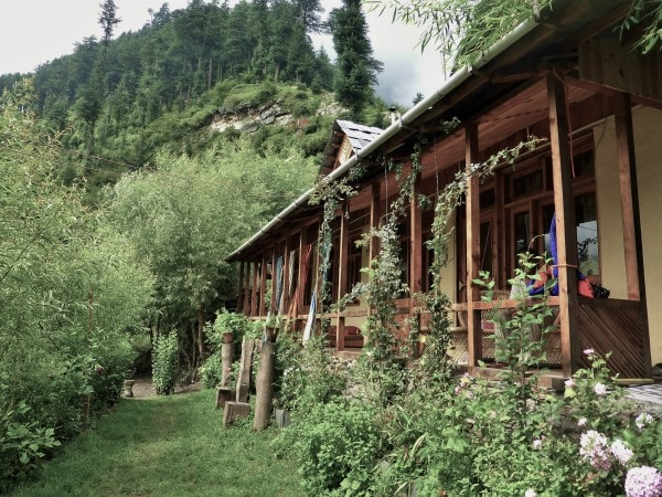 Chalet in the Himalaya Mountains