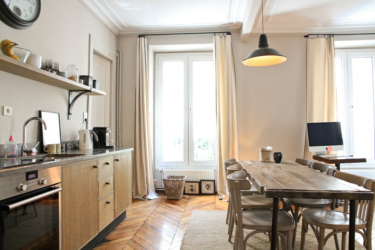 Montmartre by foot ! Beautiful & cosy 70m2