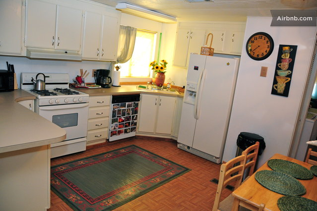 Your welcome to use all amenities - this is the fully equipped kitchen .