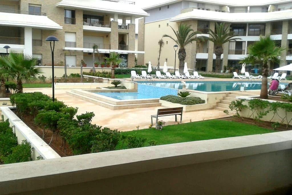 Apt avec piscine à côté de la plage - Bouknadel  - Apartment
