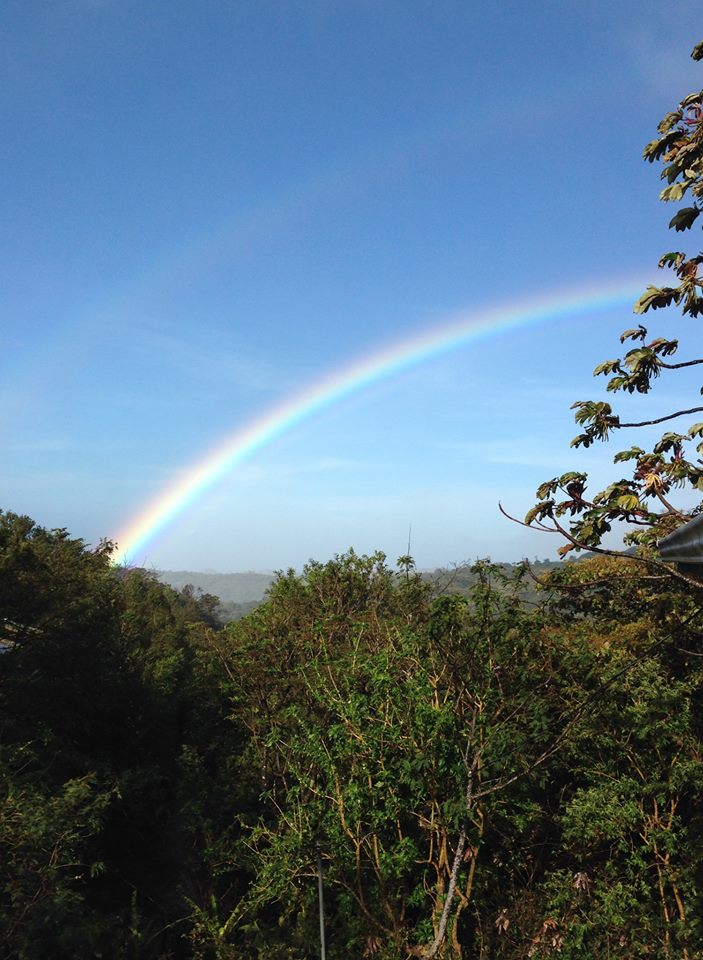 Morning rainbow from the balcony