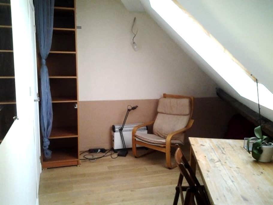 desk room and private bathroom - Schaerbeek - Ev