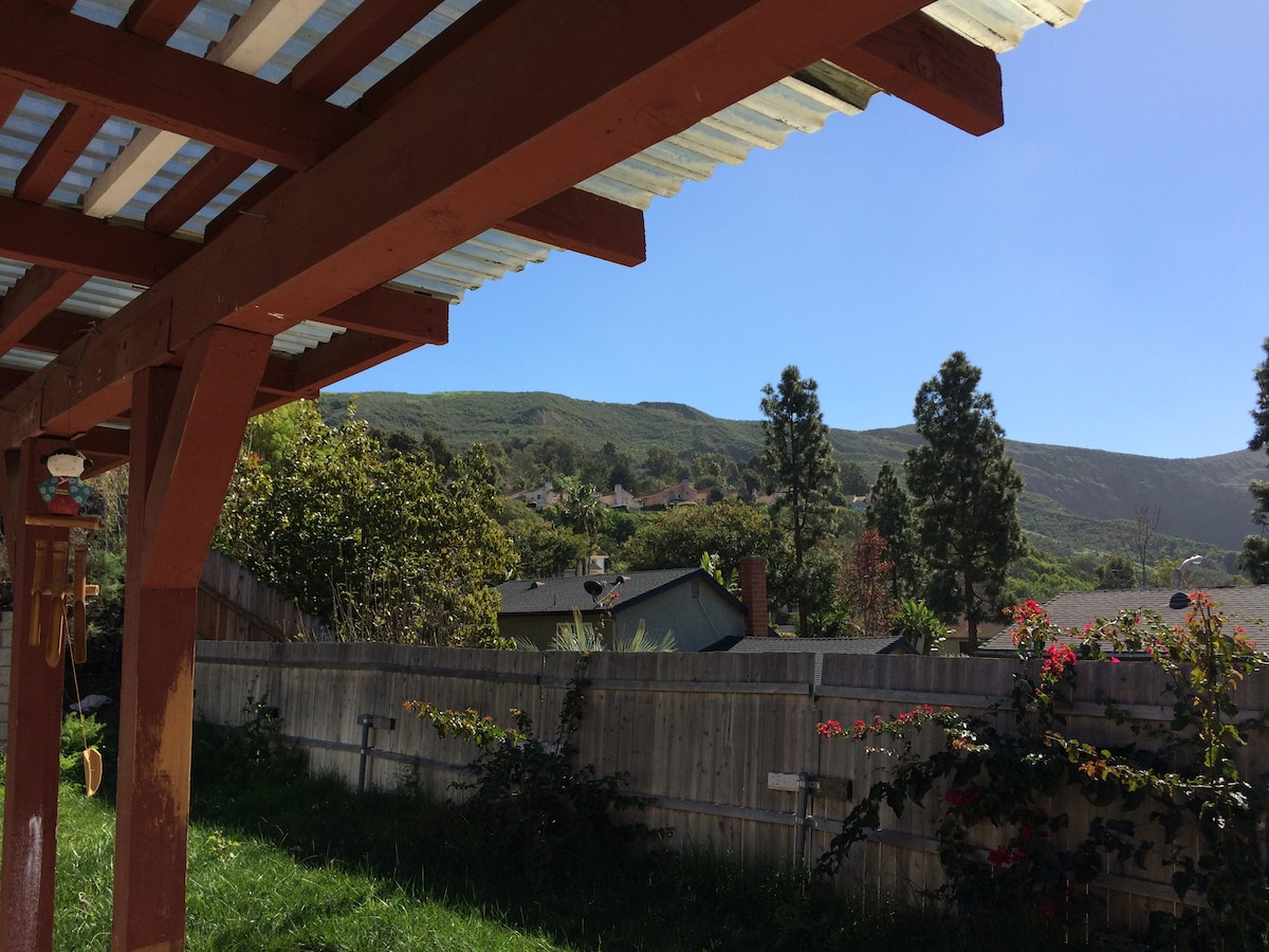 Enjoy Ventura Weather and View From the Private Backyard