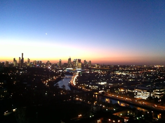 As the sun sets over Melbourne this is the view from your bedroom!
