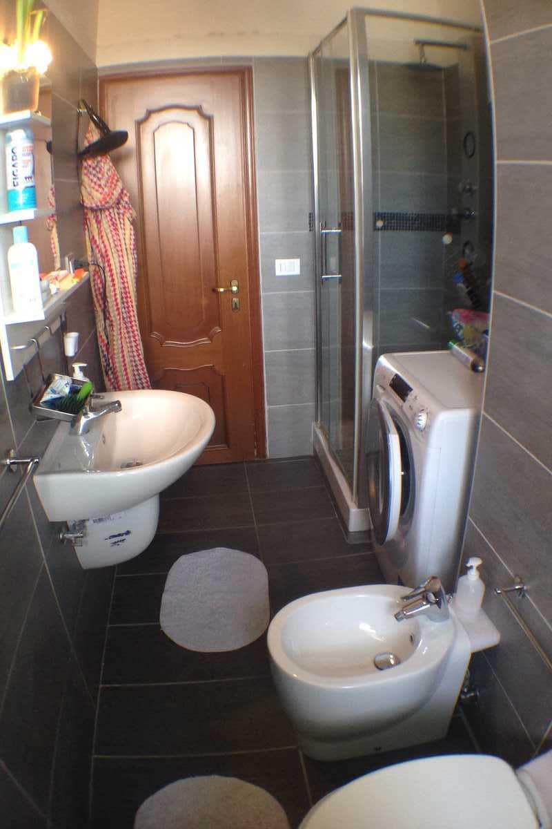 the brand new bathroom
