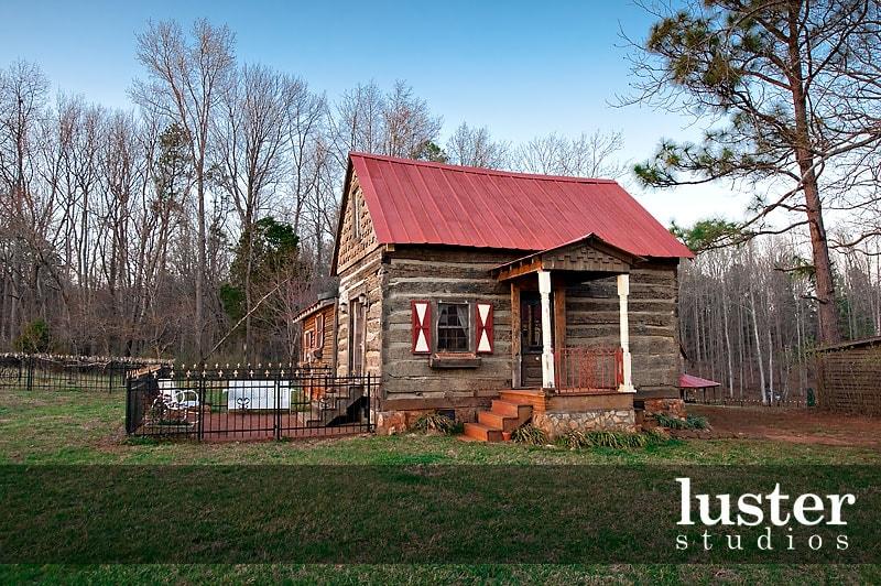 Century old log cabin on estate