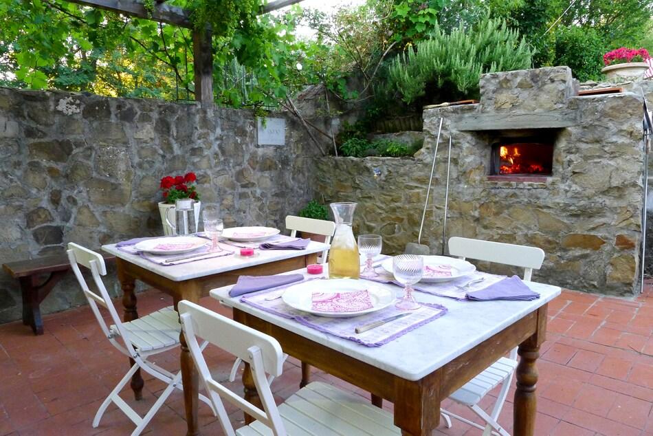 Wood oven in outdoor space