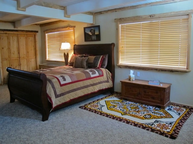 Master bedroom - Spacious room with enough space to put an air mattress for extra guests.