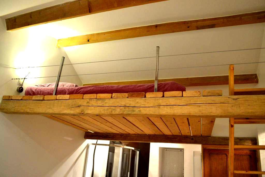 Grande chambre avec cachet, dans longère de charme - Saint-Étienne-de-Montluc - Casa de hóspedes