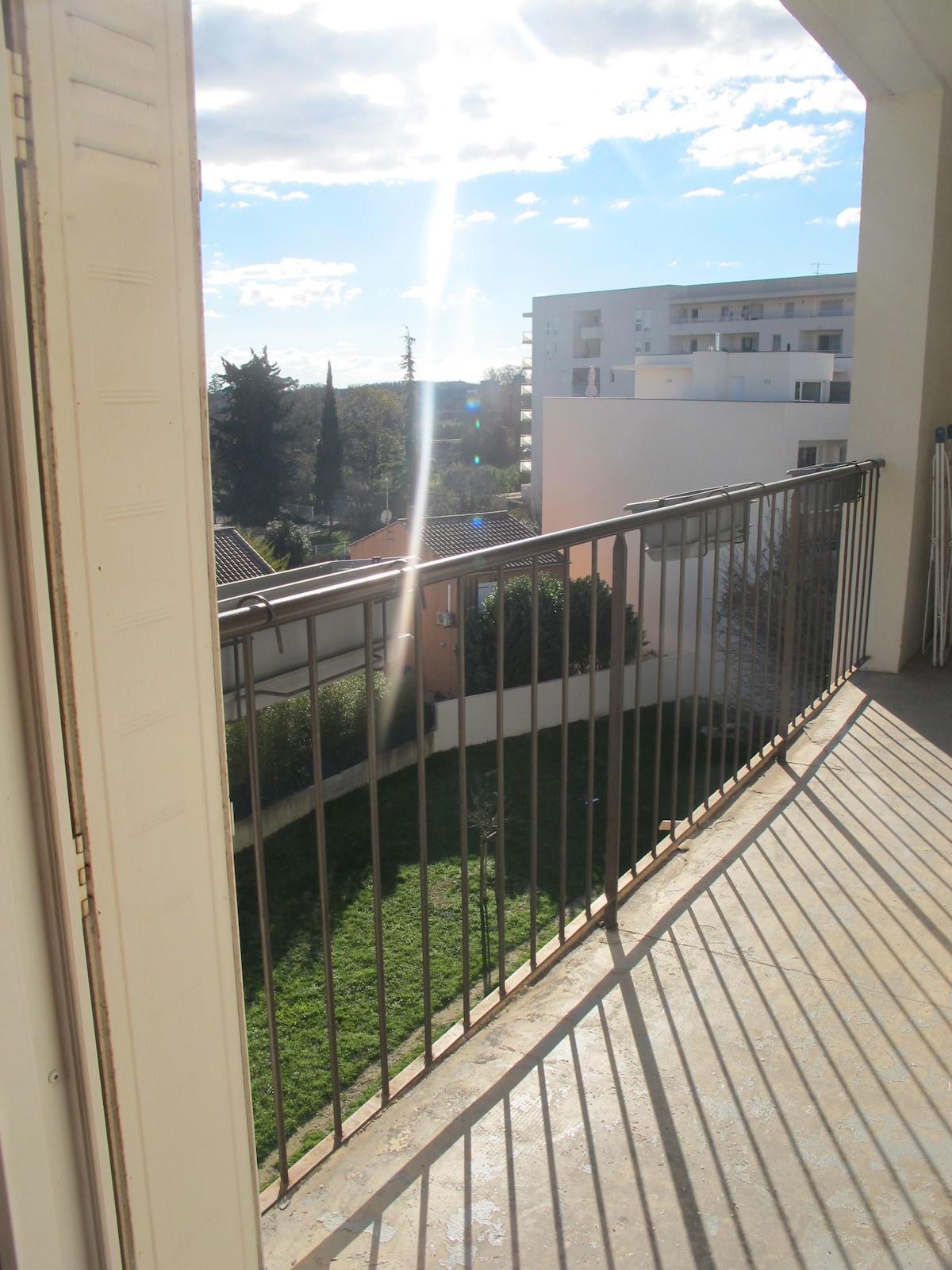 Nice morning light on the balcony.