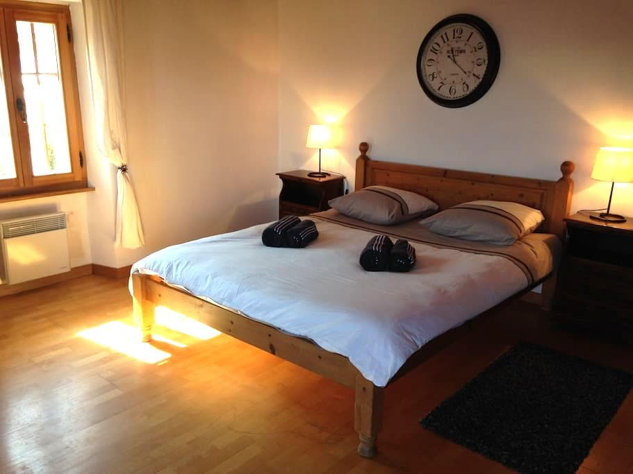 Double room with balcony and view - Nendaz - Huis
