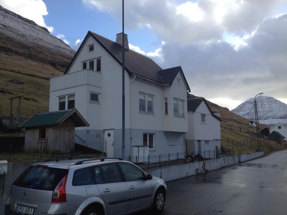 House with mountain view