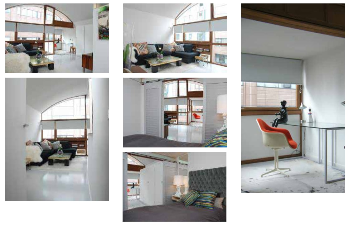 Photos showing more views of living area and bedroom