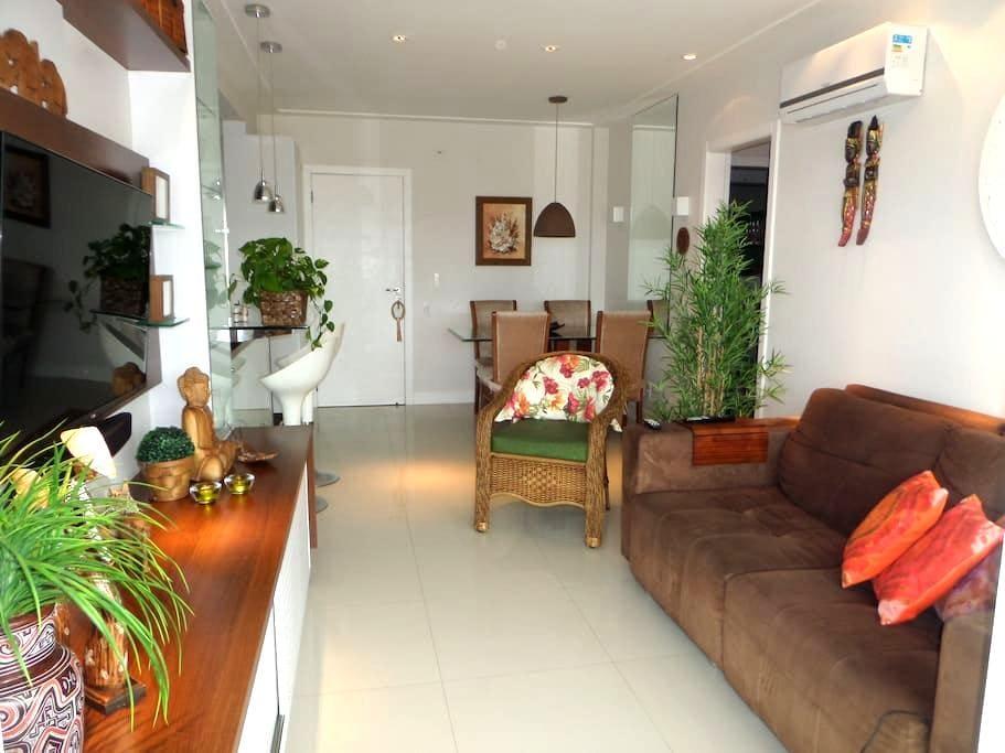 Apto 2 quartos estilo Resort na beira do mar. - Florianópolis - Appartamento