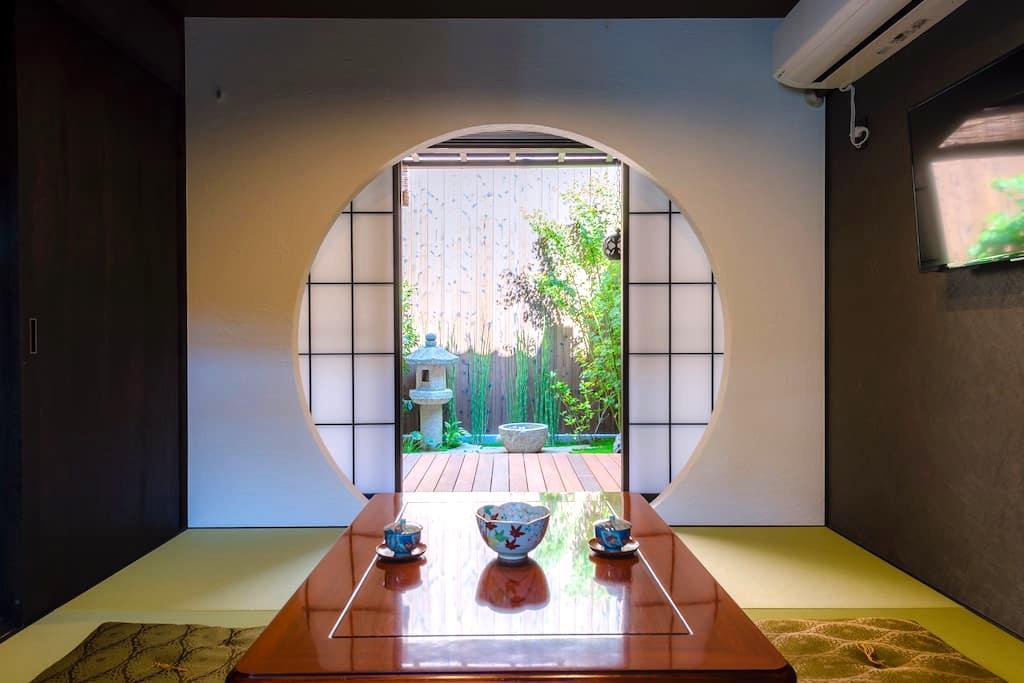 Machiya stay inside Chomyo temple, stay with Zen.W - 京都市左京区大菊町