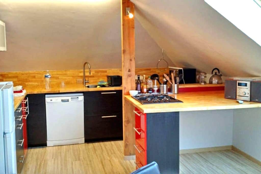 Modern dakappartement met dakterras - Ronse - Apartamento