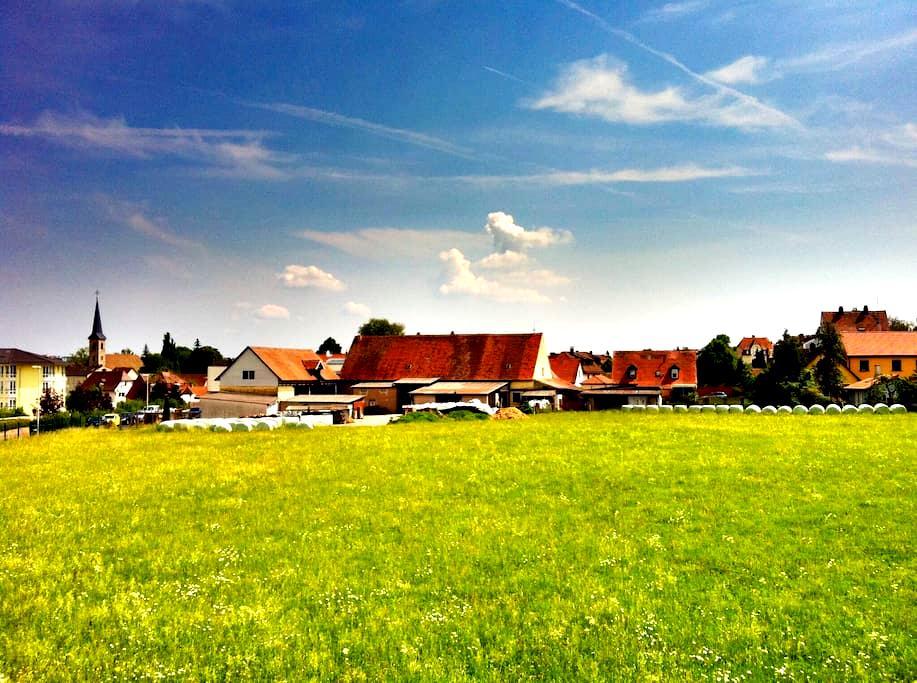 Gemütliche Wohnung, tolle Aussicht mit 2 Balkonen - Ansbach - Daire