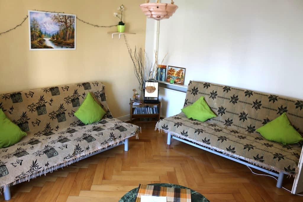 Big room with two beds - center - train station - Genewa - Apartament