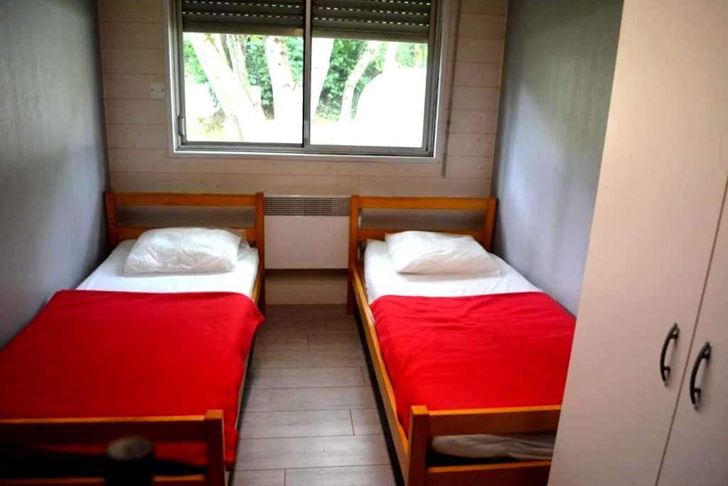 Chambres doubles en gîte d'étape - Les Cabannes - Annat