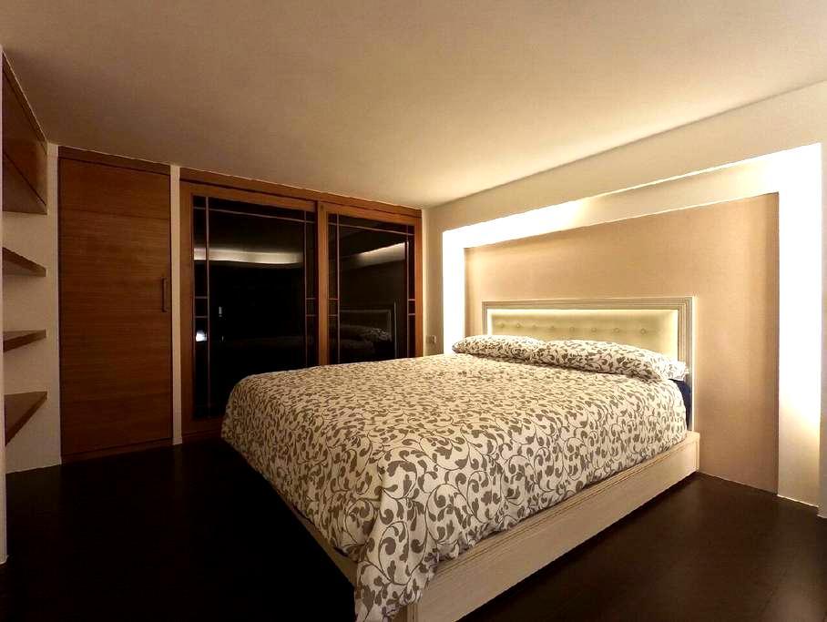 LiveHere-礁溪溫泉樓中樓湯屋套房 超美高樓陽台夜景(超近湯圍溝) - Jiaoxi Township - Loft