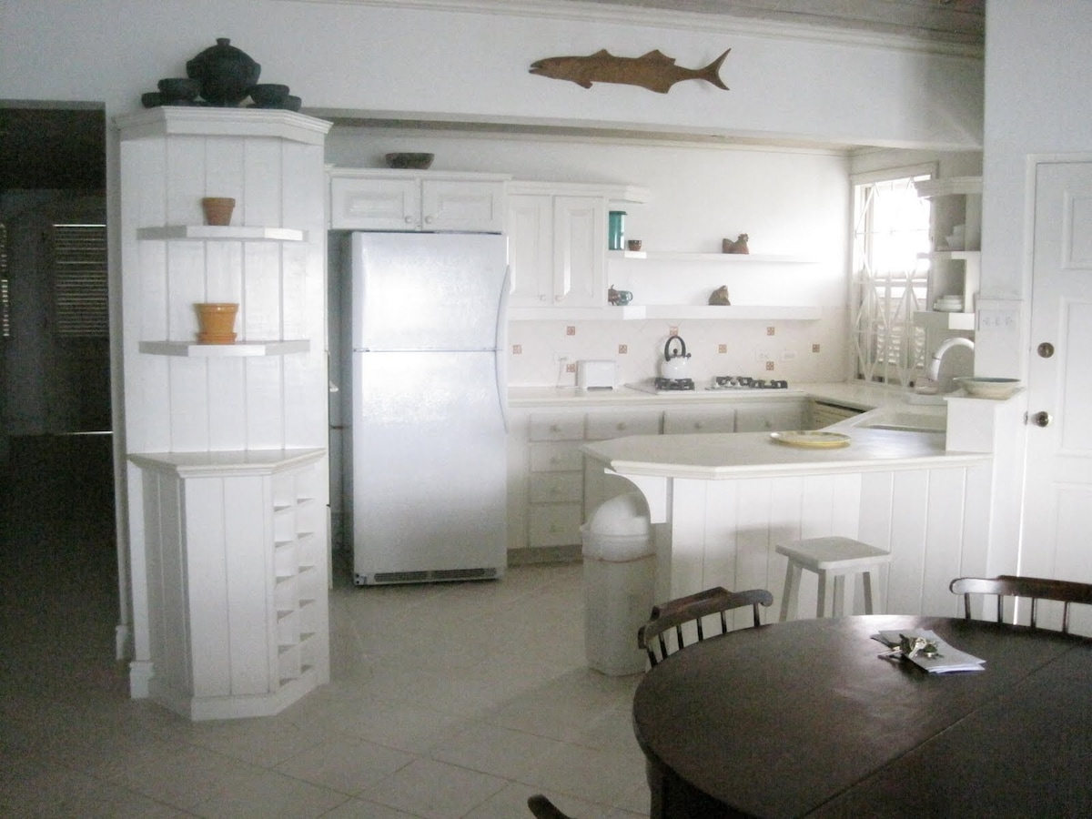 Living dining and kitchen - open plan.