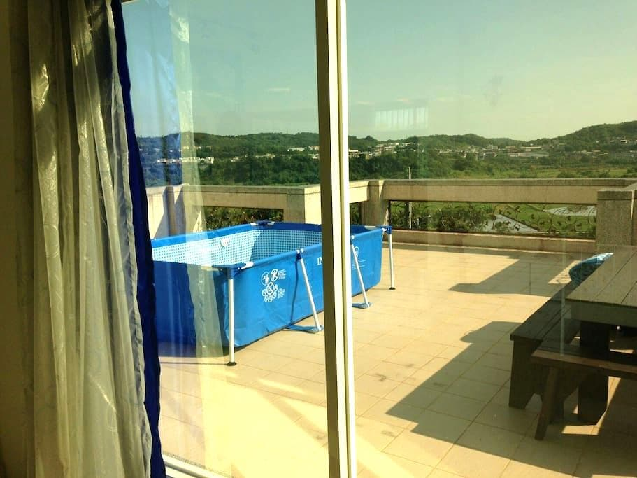 慢活田園 (限定) 2苗栗螢火蟲+草莓季哦Charming country view - 苗栗縣 - Apartamento