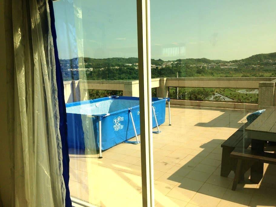 慢活田園 (限定) 2苗栗螢火蟲+草莓季哦Charming country view - 苗栗縣 - Appartement