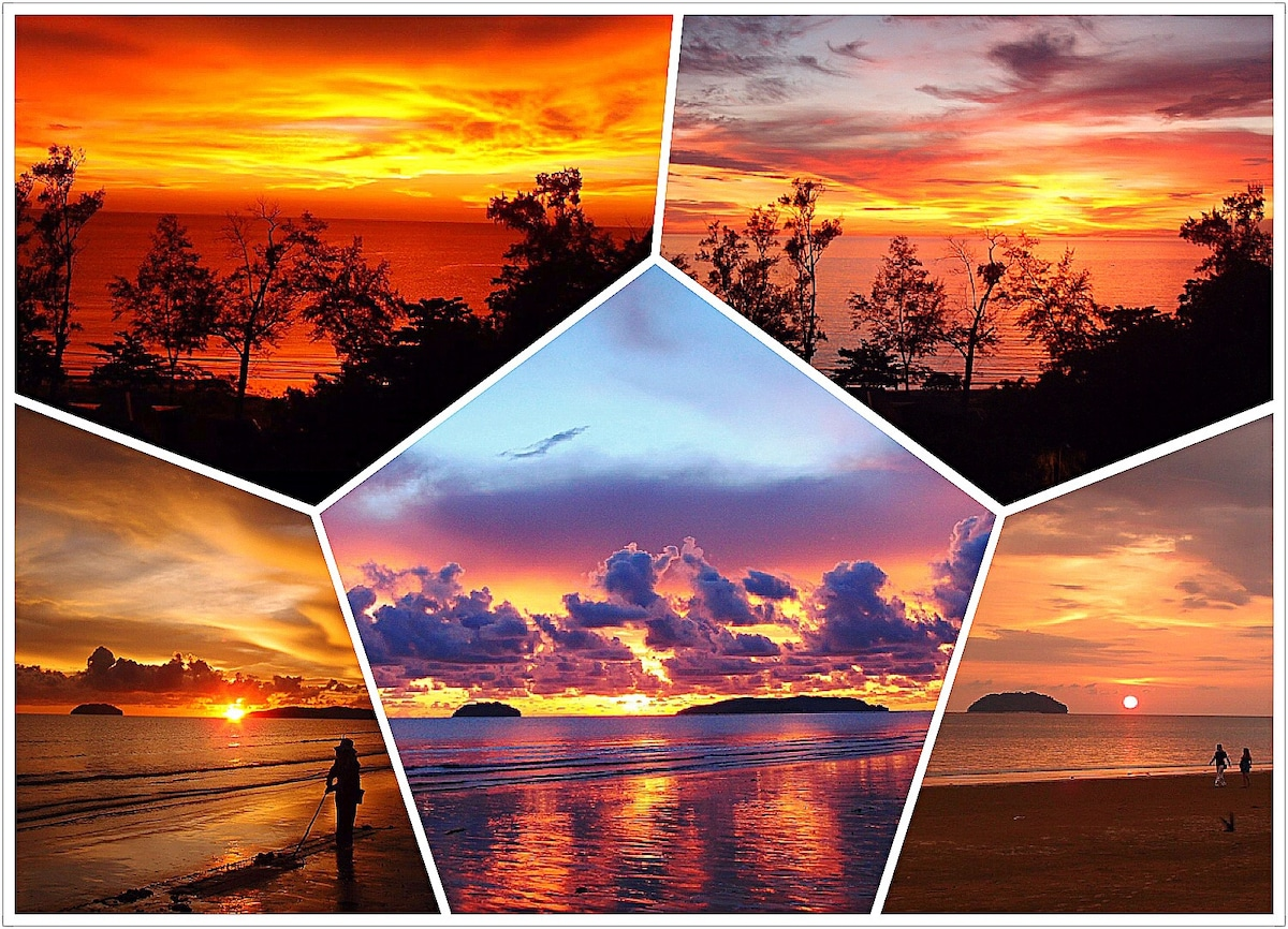 Top two pics taken from your room's window; and the bottom 3 pics are taken from the beach opposite our condo unit. Huffington Post says Sabah has one of the best sunset in the world.... Nostalgic& Breathtaking
