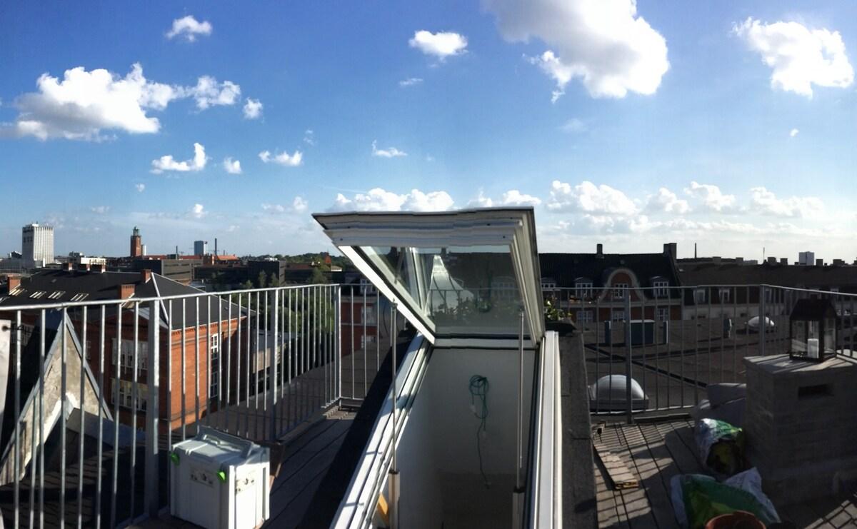 4 bedrooms + rooftop terrace