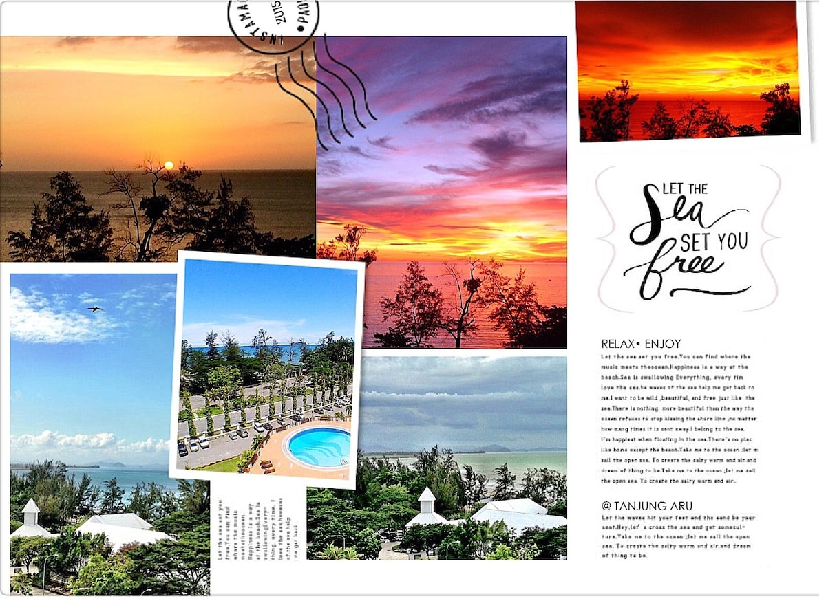 The Sea views from your room's window (behind the curtains). Huffington Post says Sabah has one of the best sunset in the world...Ask KK folks the Best place to see sunset, 99% will say Tanjung Aru Beach as it holds an impt place in their memories.