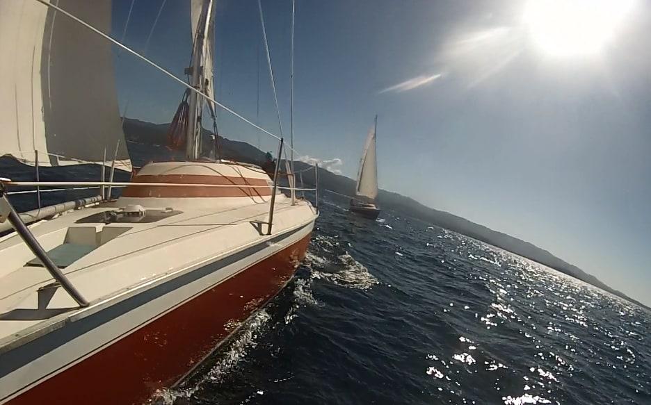 Le bateau en navigation dans le Golf D'Ajaccio
