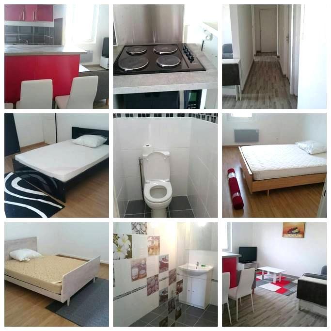 appartement avec 3 chambres privées agen centre - Agen - Apartament
