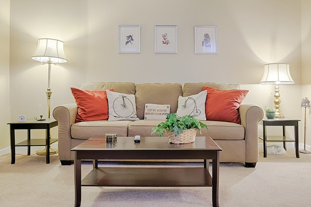 Living room - sofa converts to a queen sized bed