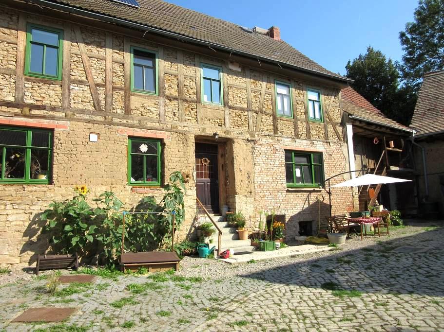 Reconstructed farmyard near Weimar - Weiden - Hus
