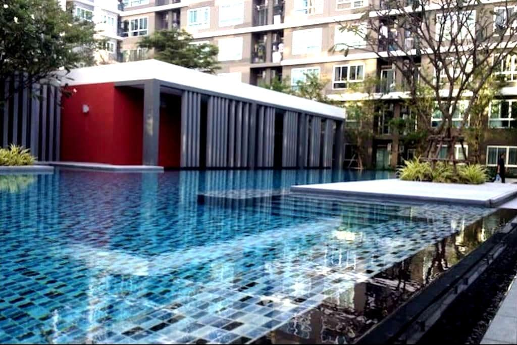 Comfortable Condo Near BTS Barering - Tambon Sam Rong Klang - Lyxvåning