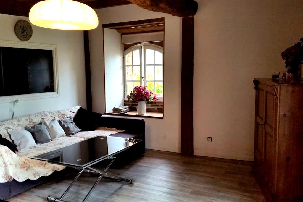 Charmant appartement avec jardin - Perriers-sur-Andelle - อพาร์ทเมนท์