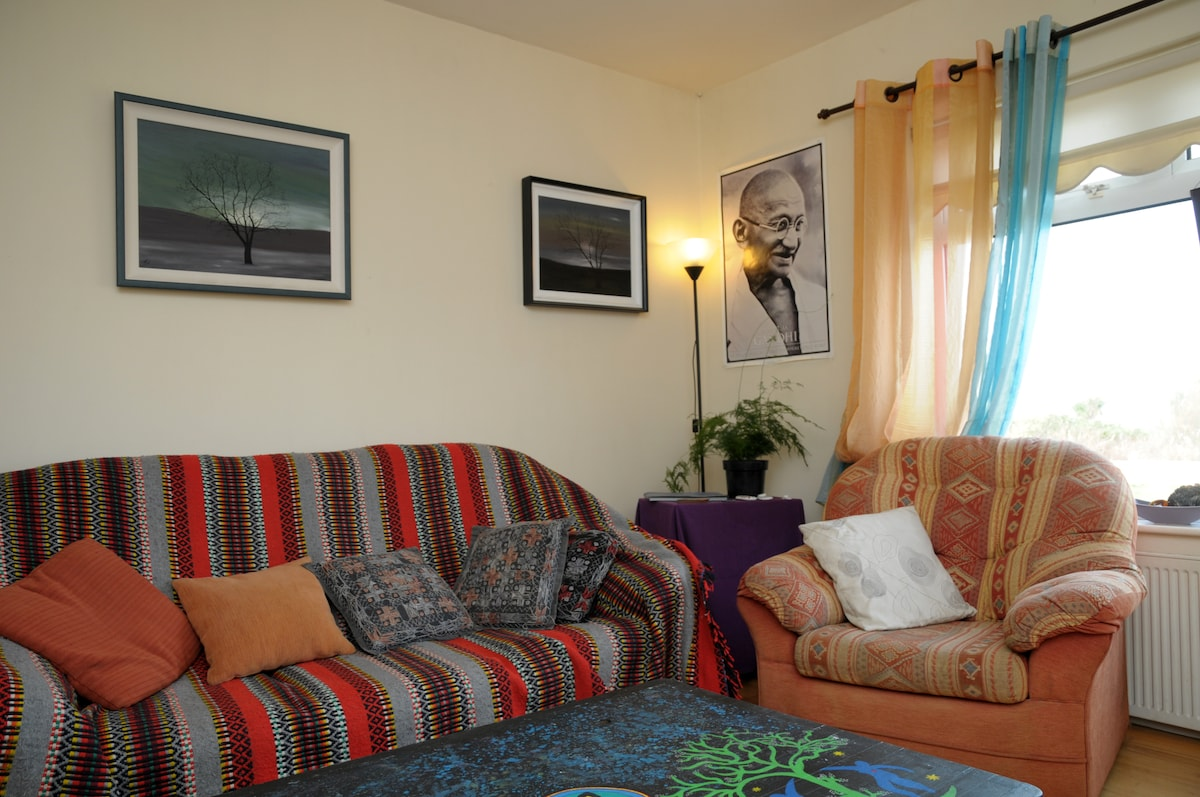 Our chilled out sitting room where you can warm yourself up after a long day out.