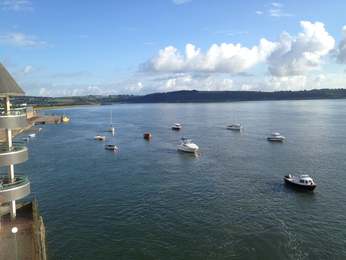 Beautiful river and sea views from the balcony