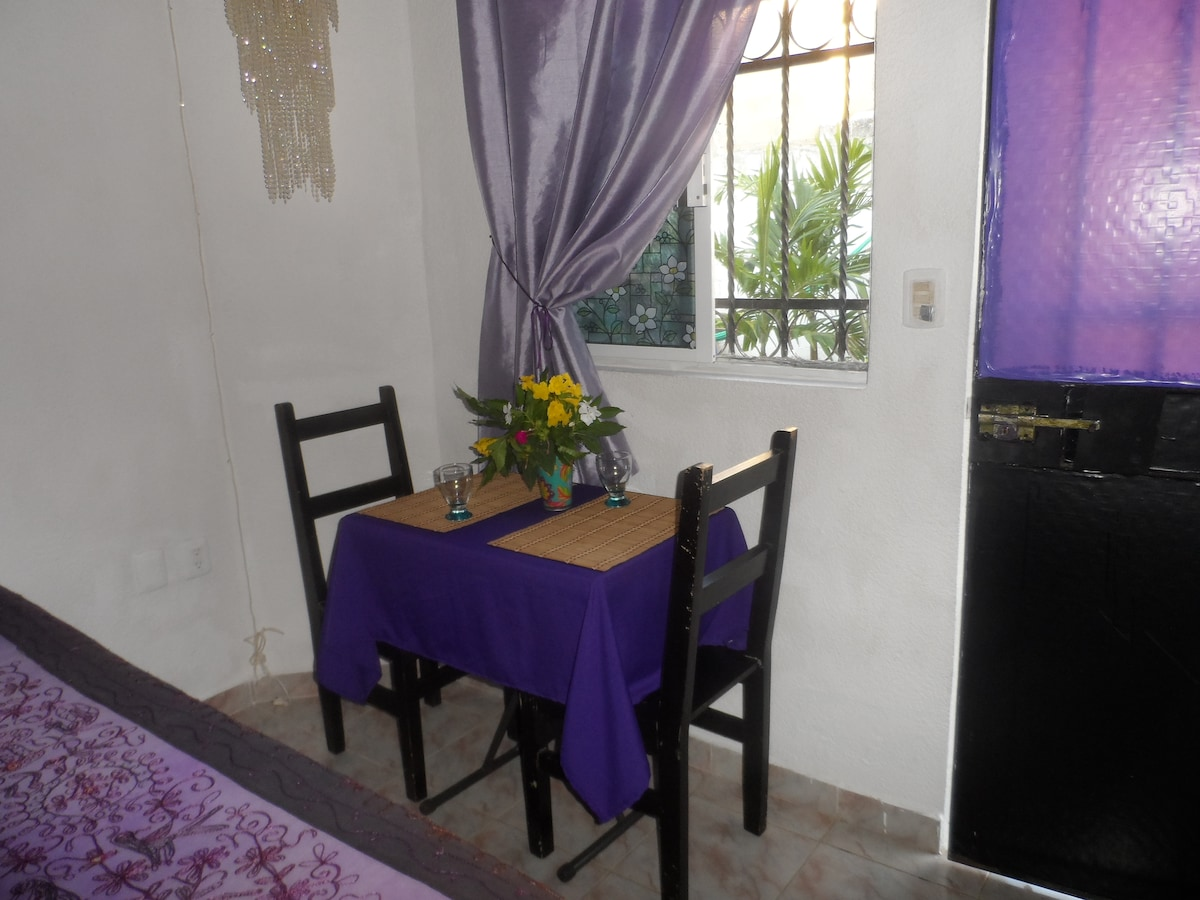 Small table with chairs for more private meals