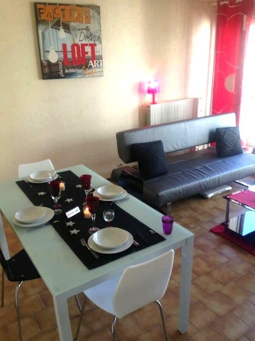 Grand T2 55m2 avec parking privé,petit dej compris - Marseille - Appartement