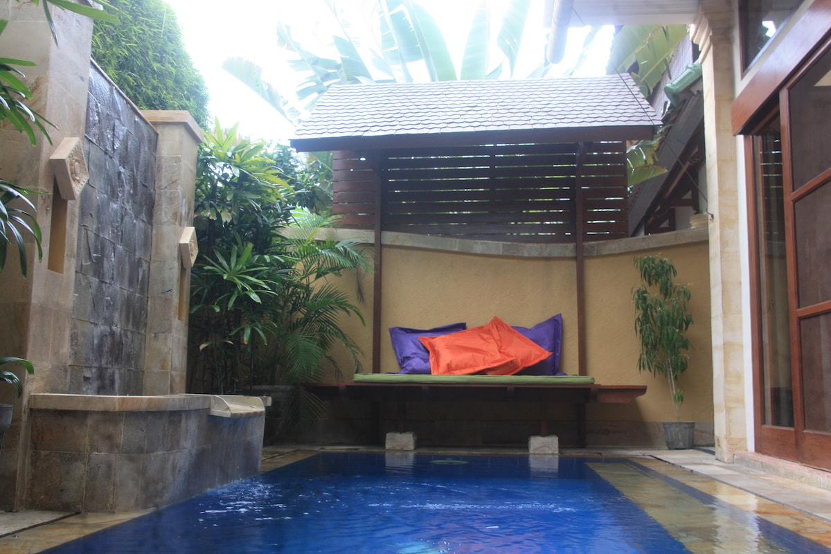 Private Pool with  Cabana Day Bed
