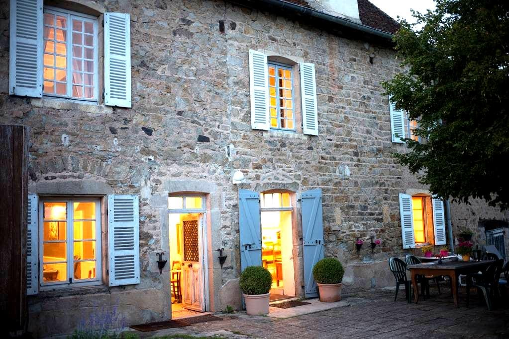 Rustic Luxury 4br house near Cluny - Donzy-le-National - Ev